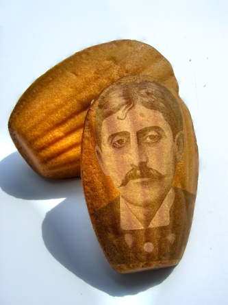 Obligatory picture of Proust on a madeleine ... though I admit I have never read Proust... but I have most definitely eaten a madeleine.  (photo credit: Parismarais)