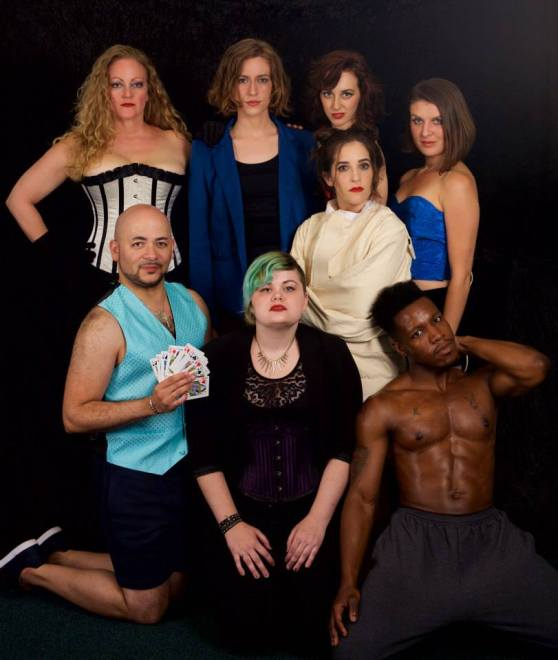 The smoldering cast of THE LAST BURLESQUE - minus one beloved cast member (photo credit: Ryan Maxwell Photography)